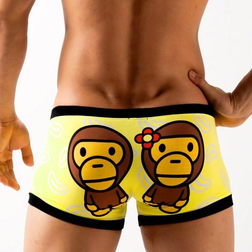 Cartoon Monkey Men's Underwear boxer  shorts  KT10