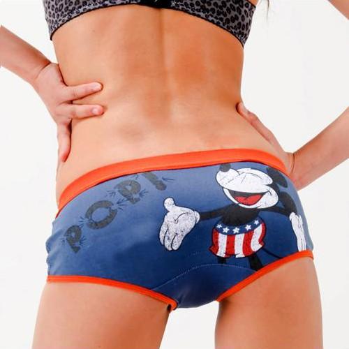 Grey Cartoon Mickey Women's Girls Underwear  shorts  KT55