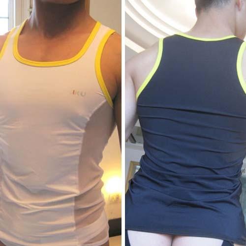 New Sexy Mens Underwear Tank Top Vest Black & White MU71