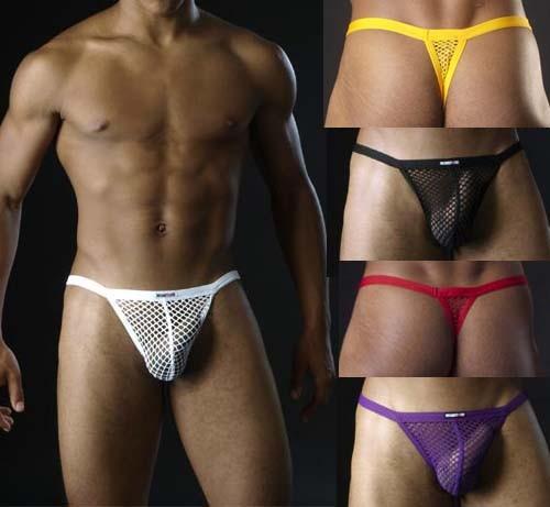 Sexy Mens big Mesh Underwear G-string Thong MU73