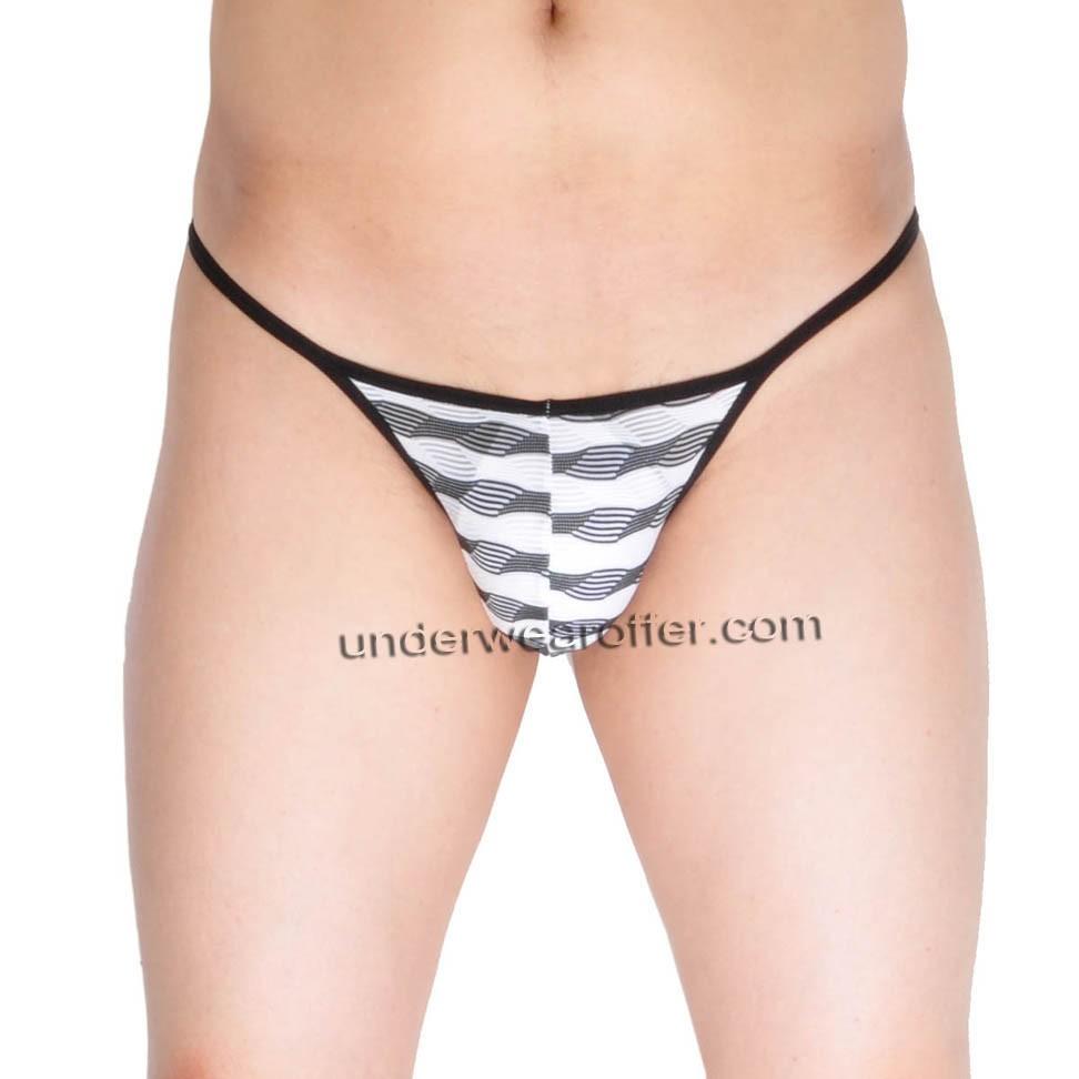 Men's Underwear Open Crotch Briefs Grille Cloth Cheeky Briefs MU267X
