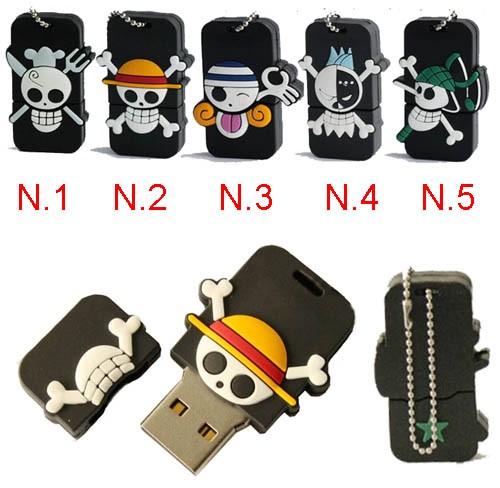 8G/16G/32GB Waterproof Evil Skull USB Flash Memory Stick Pen Drive Pirates Rubber U-Disk EU13