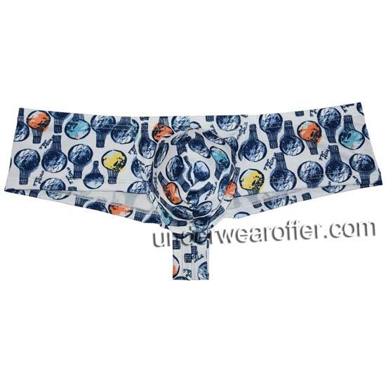 Men Cheek Boxer Underwear Bulge Pouch Micro Cheek Thong Boxer Slip Mini Boyshort MU777
