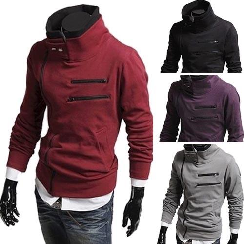 Men's Stylish Slim Fit Hoodies Jacket Coats 4 Size 4 Color MU1016