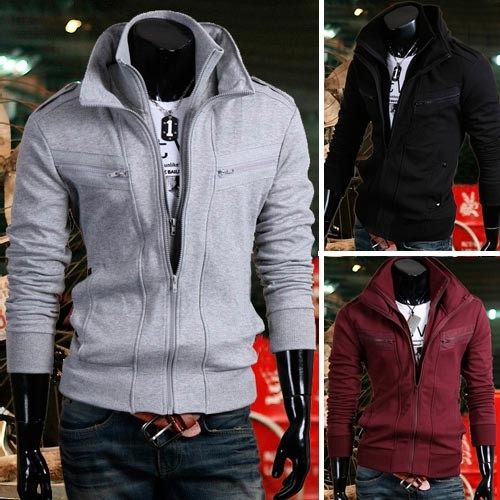 Men's Stylish Slim Fit Jackets Coats 4 Color XS~L MU1023