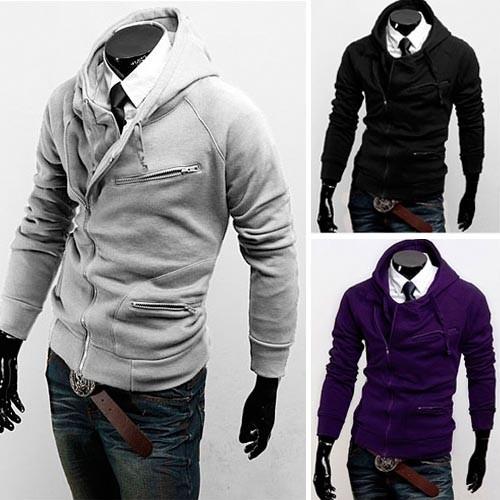 Men's Stylish Slim Fit Jackets Coats 4 Color XS~L MU1024