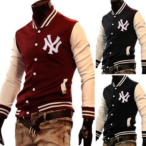 Men's Stylish Slim Fit Jackets Coats Hoody Size XS~L 4 Color MU1031