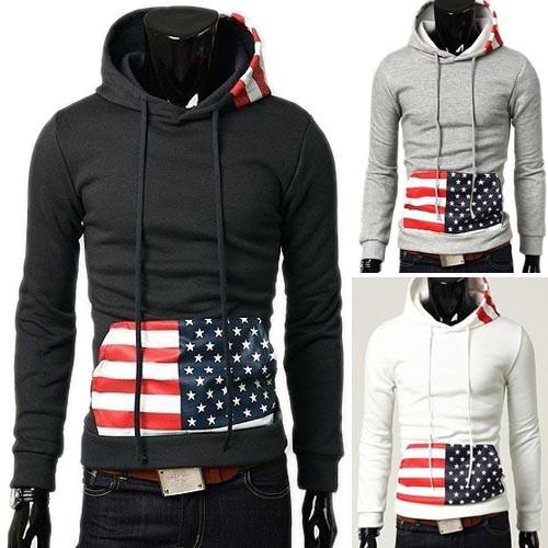 Men's Stylish Slim Fit Jackets Coats Hoody 3 Color XS~L MU1032