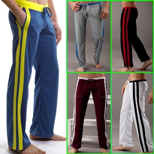 Men's Low Rise Sport Sweat Pants Gym Athletic Slim Fit lounge Homewear trousers MU150 S M L XL