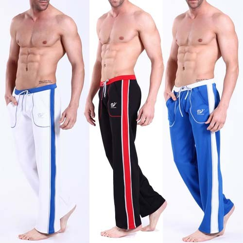 NEW Men's causal sports Sweat pants GYM Athletic Slim Fit Trousers MU152 M L XL
