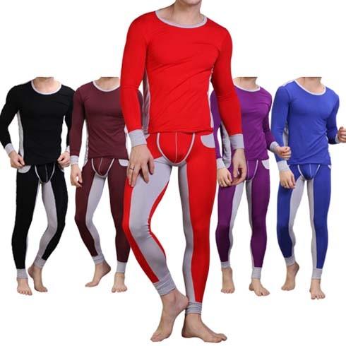 Sexy Men's Thermal underwear Set pants + T-shirt MU250