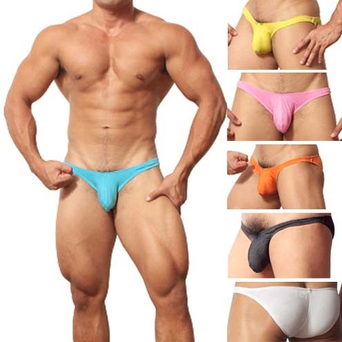 Cotton Sexy Men's Underwear Shorts Briefs Whith Penis pouch MU303