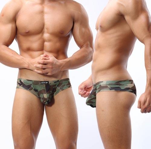 Men's Low Rise U-Brief Camouflage Underwear Mini Boxer Brief Sexy Bikinis Boxer Briefs MU333 M L XL