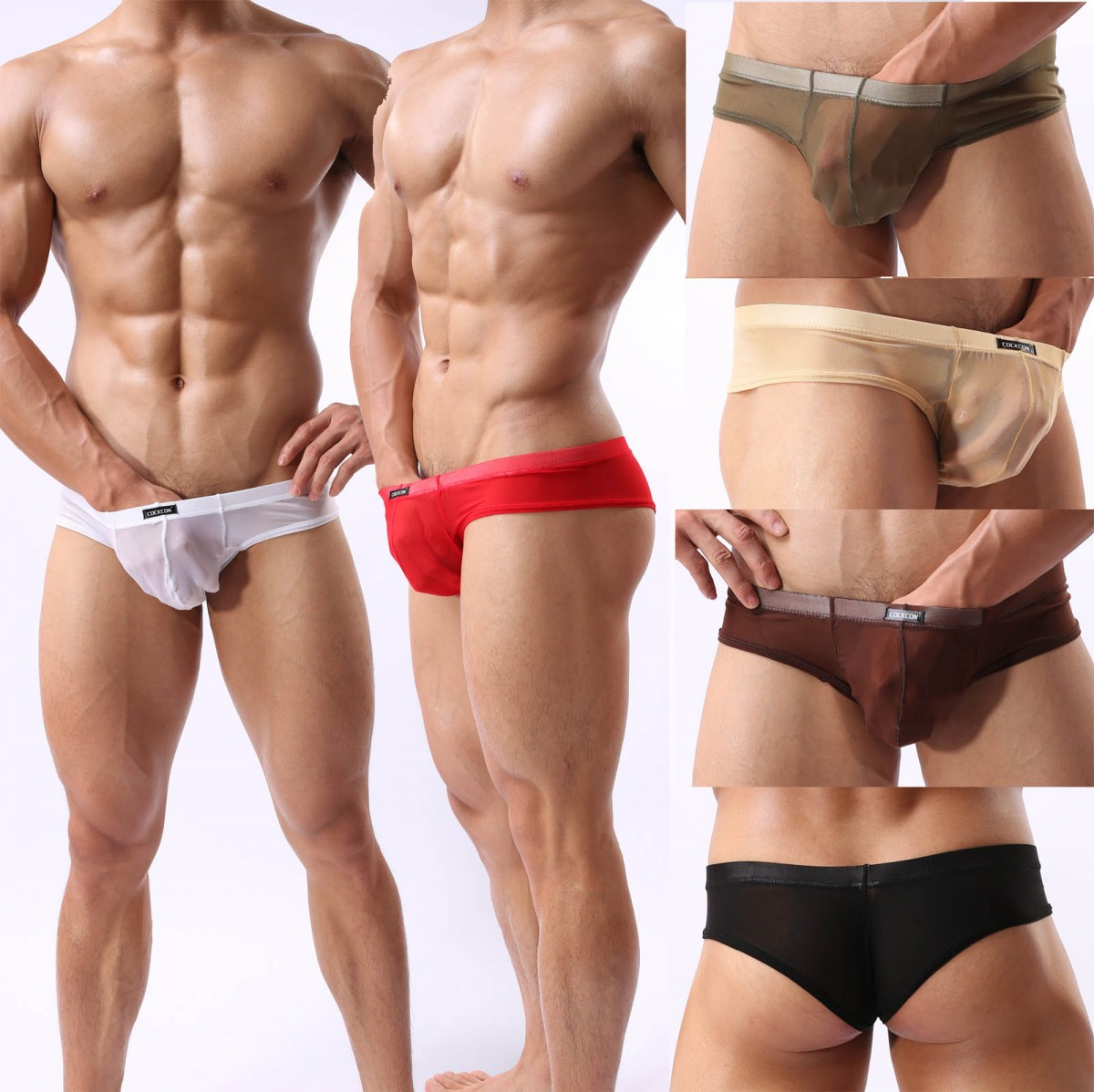 New Men's Sexy See Through Mesh Mini Boxer Briefs ...