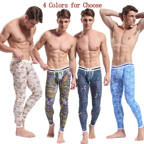 HOT Brand Cotton Men's Pattern Long Johns Thermal Underwear Pants Size S M L XL MU1867