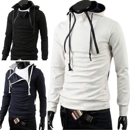 Men's Stylish Slim Fit Jackets Hoodies 4 Size 3 Color MU1015