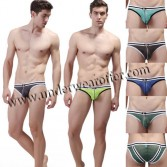 Sexy Men's See-through Stripes Mesh Underwear Hot Pouch Briefs Size S M L XL 6 Colors Offer MU1886
