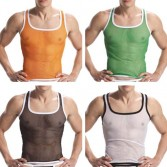 Sexy Men's Mesh Underwear Tank Top  MU03