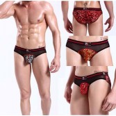 Sexy Men Leopard Underwear Briefs Shorts MU131
