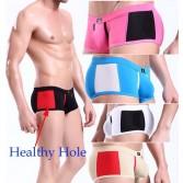 Sexy Men Healthy hole Underwear Boxers Briefs MU140