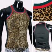 Leopard Sexy Mens Underwear Tank Top MU209