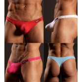 Men's Sexy thong enhance bulge pouch Cheek Boxer CX01 MU56