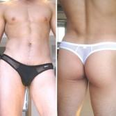 Mens Sexy See-through Underwear Briefs Thong G-string MU63