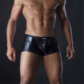 Mens sexy Faux leather boxer briefs pants MU93