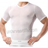 Mens T-shirts Fashion  T-Shirt Gym Undershirts Men Mesh See Through Underwear MU927