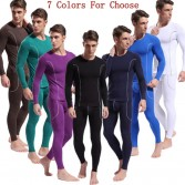 Bamboo Fiber Men's Long Sleeve & Long Johns Thermal Underwear Set Size S M L MU1872