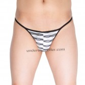 Men's Underwear Open Crotch Briefs Grille Cloth Cheeky Briefs MU267X