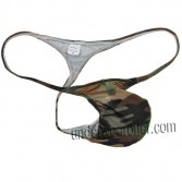 Sexy Men's Camouflage Micro String Thongs Bulge Pouch T-back Underwear Gay Tanga MU338X