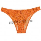 Sexy Men Hollow Bikini Pattern Briefs Jacquard Underwear Pouch Mini Thong Brief  MU614