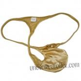 Sexy Men Shiny Micro Thong Bulge Pouch T-back Underwear Guy String Bikini Tanga MU622