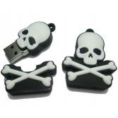 8G/16G/32GB Skull andCrossbones USB Memory Stick Flash Pen DriveSilica gel U-Disk EU08
