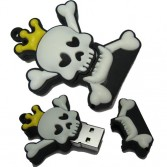 8G/16G/32GB Royal Crown Skull andCrossbones USB Memory Stick Flash Pen DriveSilica gel U-Disk EU09