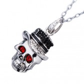 8G/16G/32GB Silvery Skull USB Flash Memory Stick Pen Drive Fashiong Crystal Necklace U-Disk EU10