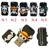 8G/16G/32GB Waterproof Evil Skull USB Flash Memory Stick Pen Drive Pirates Rubber U-Disk EU13