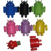 8/16/32GB CuteRobot USB Flash Memory DriveRubber Android Robot Figure ShapedPen DriveEU14