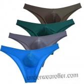 Men Shiny Classic Fit Bulge Pouch Bikini Brief Underwear Mini Pants Cheeky Boxer MU705/715