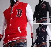 Men's Stylish Slim Fit Jackets Coats Hoody Size XS~L 3 Color MU1004