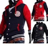 Men's Stylish Slim Fit Jackets Coats Hoody Size XS~L MU1005