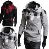 Men's Fashion Slim Designed Zip Jackets 4 Size 2 Color MU1006