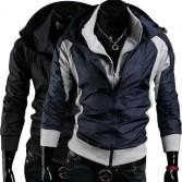 Men's Stylish Slim Fit Jackets Coats Hoody Size XS~L 2 Color MU1007