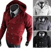 Men's Stylish Slim Fit Jackets Coats Hoody Size XS~L 4 Color MU1008