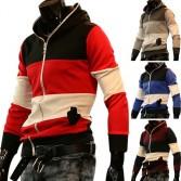 Men's Stylish Slim Fit Jackets Coats Hoody Size XS~L 4 Color MU1009
