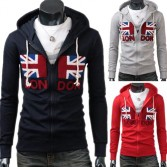 Men's Stylish Slim Fit Jackets Coats Hoody Size XS~L 3 Color MU1010