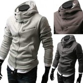 Men's Stylish Slim Fit Hoodies Jacket Coats 4 Size 4 Color MU1011
