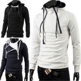 Men's Stylish Slim Fit Jackets Hoodies 4 Size 3 Color MU1015