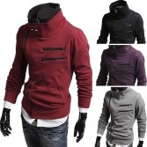 Men's Stylish Slim Fit Hoodies Jacket Coats 4 Size 4 Color MU1016